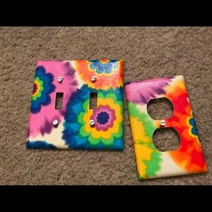 Other - Tie dye Light Switch and Plug in Covers